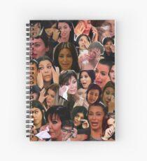 Cuaderno de espiral Collage llorando de Kardashian