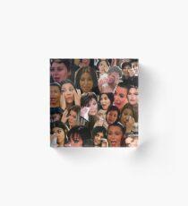 Kardashians schreiende Collage Acrylblock