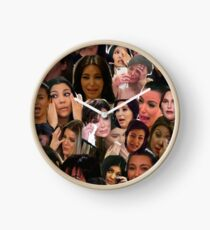 Kardashian's Crying Collage  Clock