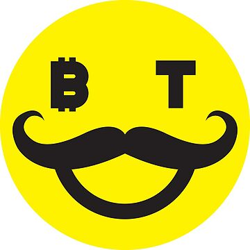 Bitcoin Moustache Smiley by Bitcoin-Smiley