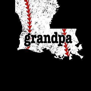 Louisiana Baseball Grandpa Softball Grandpa Shirt by shoppzee