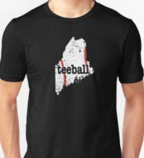 Maine Girls Teeball Boys Teeball Mom Teeball Coach Unisex T-Shirt
