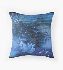 Drowning In Memories Throw Pillow