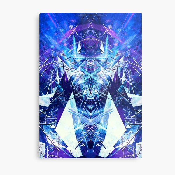 Structured chaos kaleida \1 Metal Print