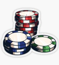 Poker Chips Pegatina transparente