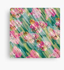 floral dry pastel Canvas Print