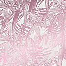 Vintage Pink Tropical Palm Leaf Pattern by artsandsoul