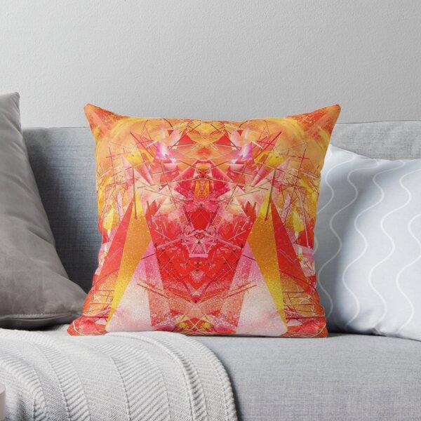Structured chaos kaleida \2 Throw Pillow