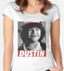 DUSTIN IS MY HERO Women's Fitted Scoop T-Shirt