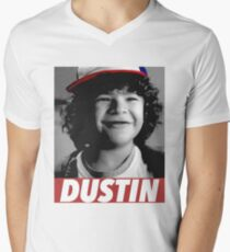 DUSTIN IS MY HERO Men's V-Neck T-Shirt