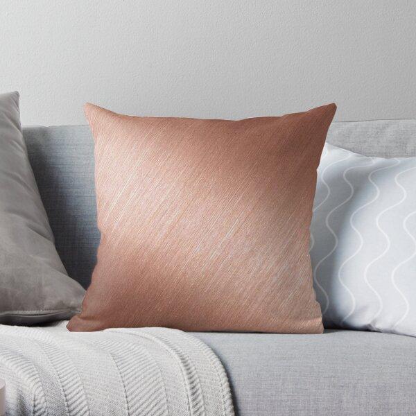 Rose Gold Reflective Throw Pillow