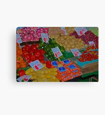 vegetable market Canvas Print
