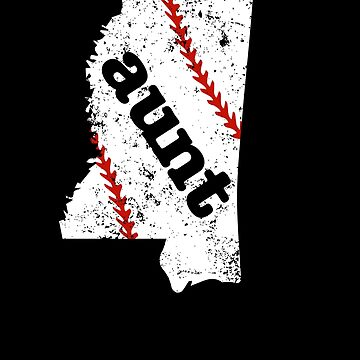 Baseball Aunt Mississippi Fastpitch Aunt Softball by shoppzee