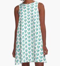 Heart Puzzle A-Line Dress