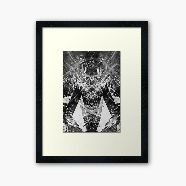 Structured chaos kaleida \4 Framed Art Print