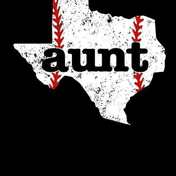 Softball Aunt Texas Baseball Aunt Shirt by shoppzee