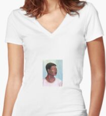 Myanmar Man Women's Fitted V-Neck T-Shirt