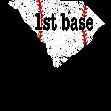 1st Base Coach Fastpitch Softball Shirt South Carolina by shoppzee