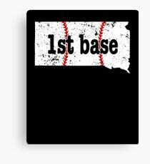 1st Base Coach 1st Base Softball Shirt South Dakota Canvas Print