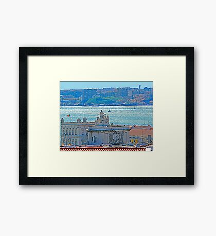 Lisbon. Tejo river view from the Castle Framed Print