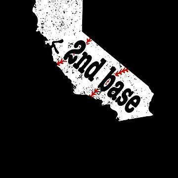2nd Base T Shirt California 2nd Base Fast Pitch Softball by shoppzee