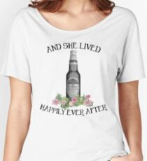 and she lived happily ever after - michelob ultra Women's Relaxed Fit T-Shirt