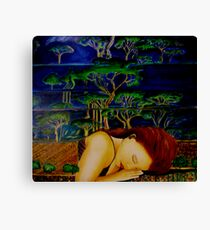 Nature Sleeping - Oil Painting Canvas Print