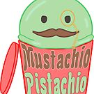 Kawaii Mustachio Pistachio by Castiel Gutierrez