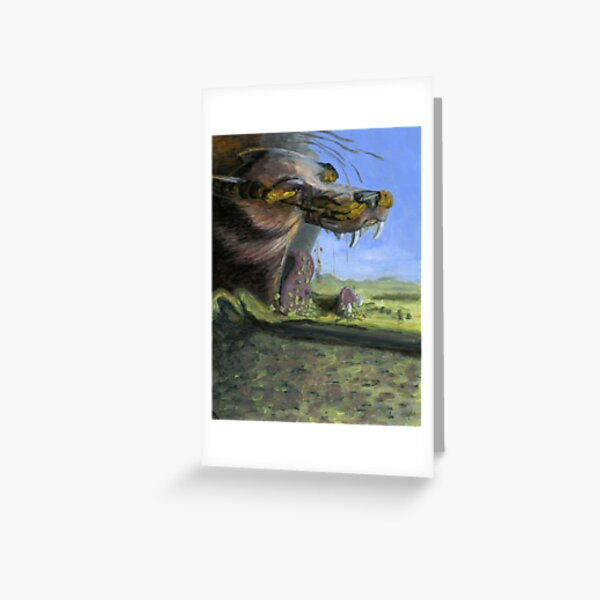 Fenrir at Ragnarok Greeting Card