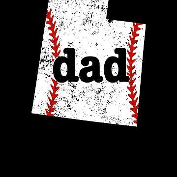Softball Dad Shirt Utah Proud Dads Baseball Shirt Gift by shoppzee