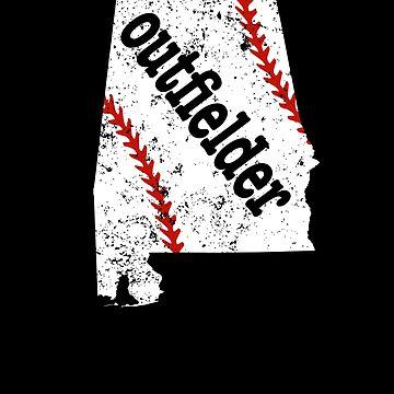 Alabama Outfeild Softball Baseball Outfeild Shirt by shoppzee