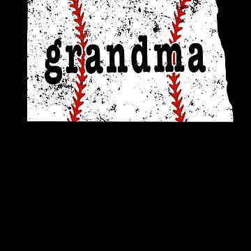 Baseball Grandma T Shirt North Dakota Softball Grandma Tshirts by shoppzee