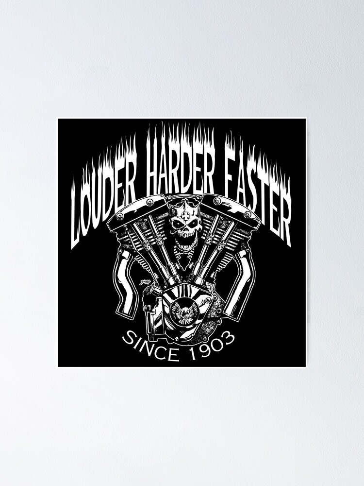 Alternate view of LOUDER FASTER HARDER Poster