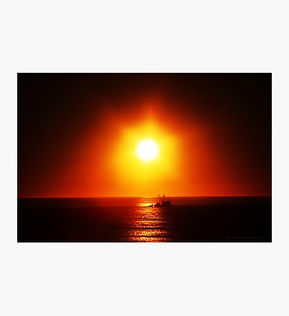 A Trawler's Sunset Photographic Print