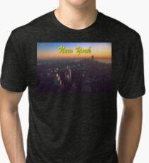 STUNNING! NEW YORK CITY RETRO 1970's Tri-blend T-Shirt