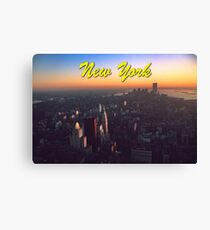 STUNNING! NEW YORK CITY RETRO 1970's Canvas Print