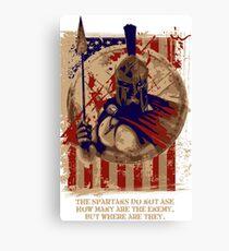 Spartan Warrior knight Canvas Print