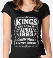 Kings are born in april 1993 Women's Fitted Scoop T-Shirt