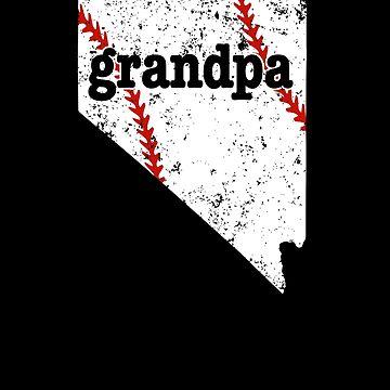 Grandpa Baseball Shirt Nevada Softball Grandpa Shirt by shoppzee