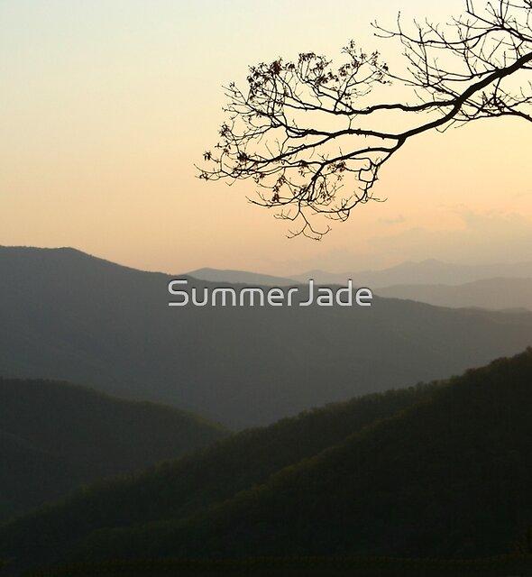Smoky Mountain Misty Sundown by SummerJade