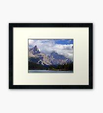 Two Peaks-Maligne Lake Framed Print
