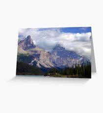 Two Peaks-Maligne Lake Greeting Card