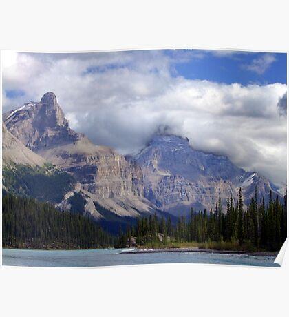Two Peaks-Maligne Lake Poster