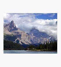 Two Peaks-Maligne Lake Photographic Print
