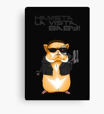 Hamster Terminator Text Canvas Print