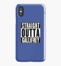 STRAIGHT OUTTA GALLIFREY iPhone Case/Skin