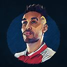 Geometric Aubameyang by Mark White