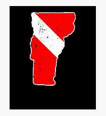 Vermont Scuba Dive Flag Diver Down Flag Shirt Photographic Print