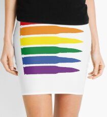 Rainbow Bullets Mini Skirt