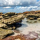 Colourful Rocks at Greenfield Beach a by Rainphotography